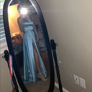 Light Blue Size 0 Sherri Hill Prom Dress